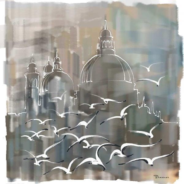 Foggy morning Santa Maria della Salute - Tatiana Zhezmer