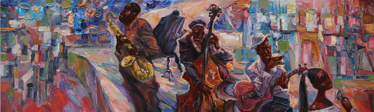 jazz club purpul blue