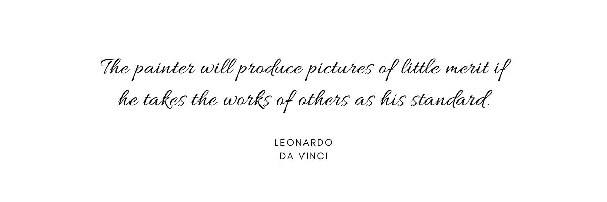 Leonardo da Vinci quotes painting