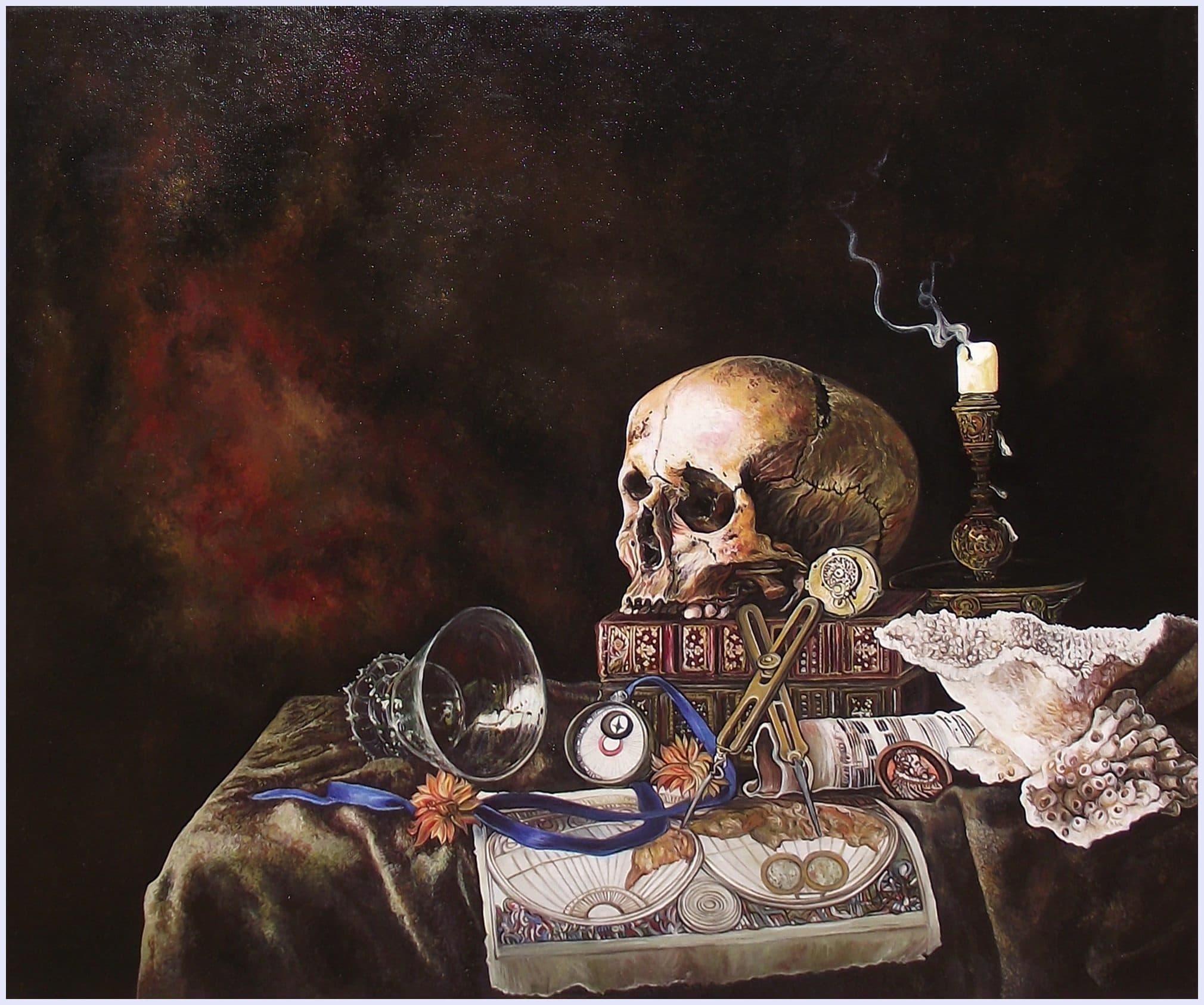 Still life memento mori